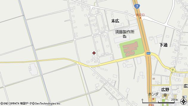 山形県酒田市広野末広39周辺の地図