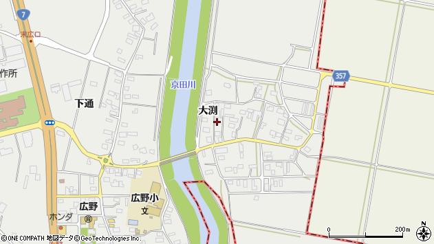 山形県酒田市広野大渕122周辺の地図
