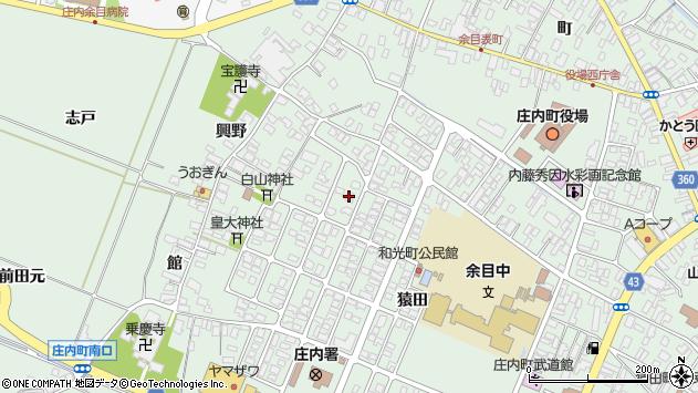 山形県東田川郡庄内町余目猿田22周辺の地図