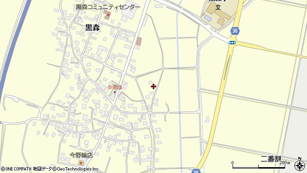 山形県酒田市黒森川前周辺の地図
