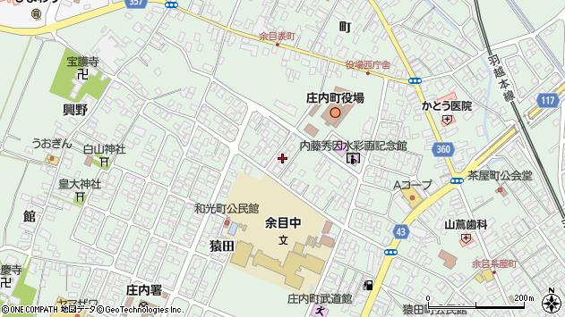 山形県東田川郡庄内町余目三人谷地65周辺の地図