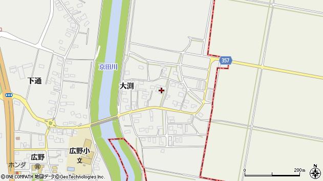 山形県酒田市広野大渕96周辺の地図