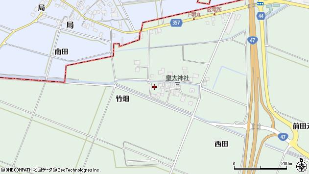 山形県東田川郡庄内町余目松岡34周辺の地図