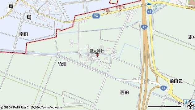山形県東田川郡庄内町余目松岡45周辺の地図