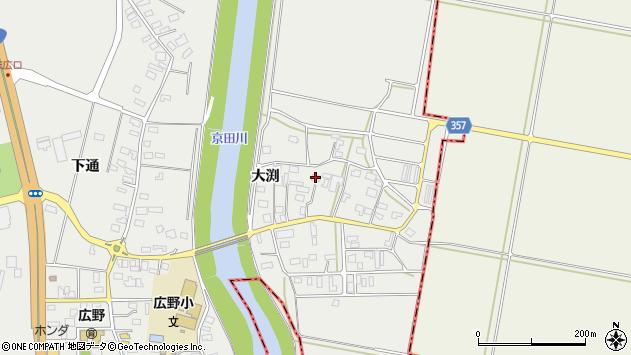 山形県酒田市広野大渕100周辺の地図