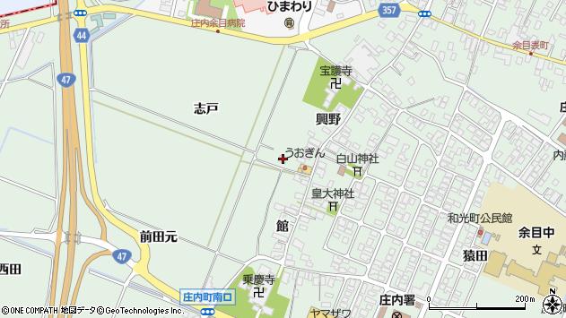 山形県東田川郡庄内町余目興野63周辺の地図