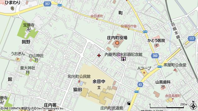 山形県東田川郡庄内町余目三人谷地64周辺の地図