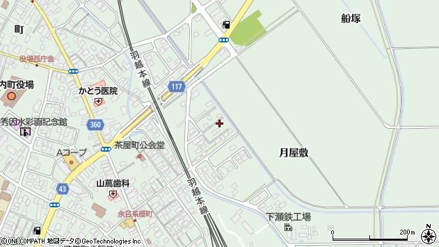 山形県東田川郡庄内町余目月屋敷175周辺の地図
