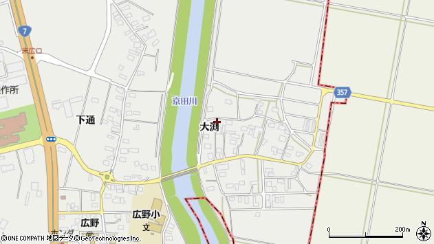 山形県酒田市広野大渕123周辺の地図