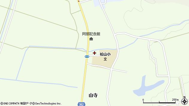 山形県酒田市山寺見初沢周辺の地図