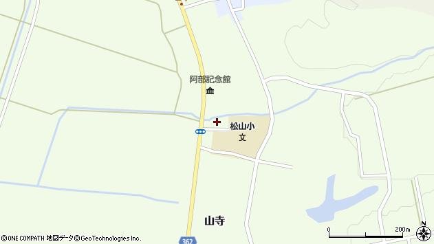 山形県酒田市山寺周辺の地図