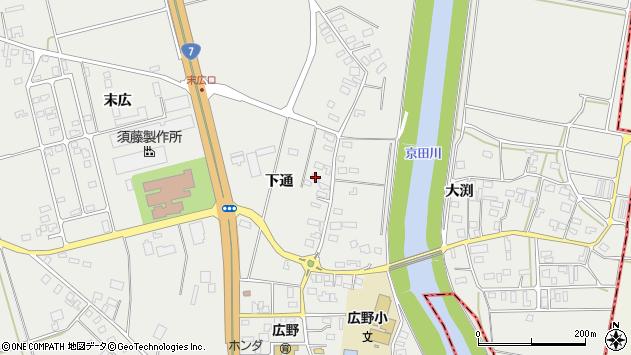 山形県酒田市広野下通113周辺の地図