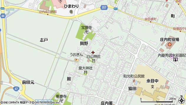 山形県東田川郡庄内町余目興野11周辺の地図