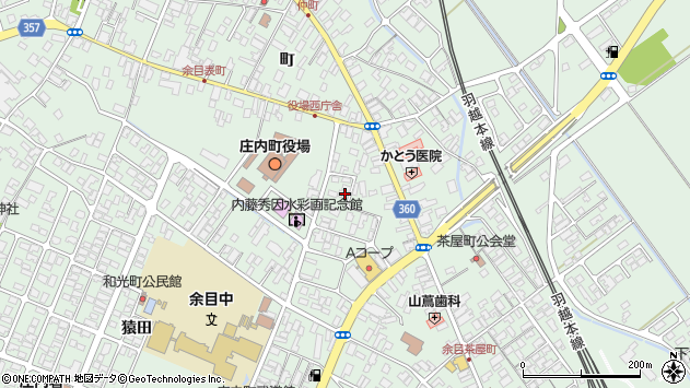 山形県東田川郡庄内町余目三人谷地146周辺の地図