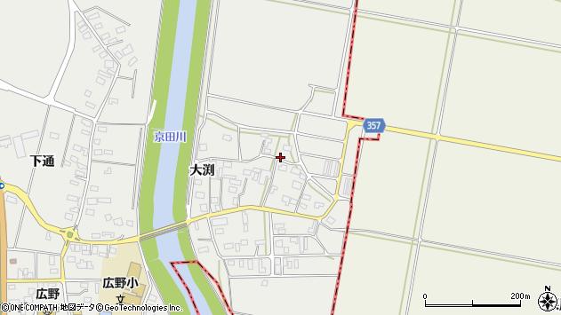 山形県酒田市広野大渕86周辺の地図