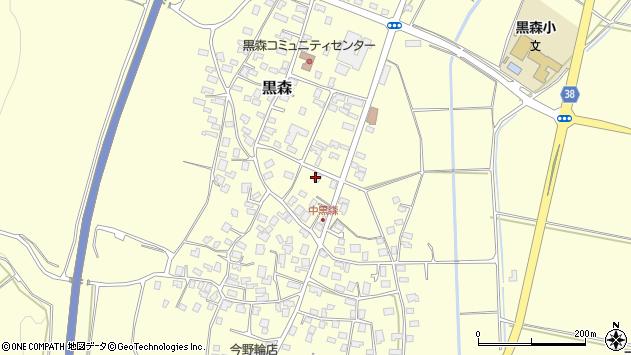 山形県酒田市黒森草刈谷地13周辺の地図