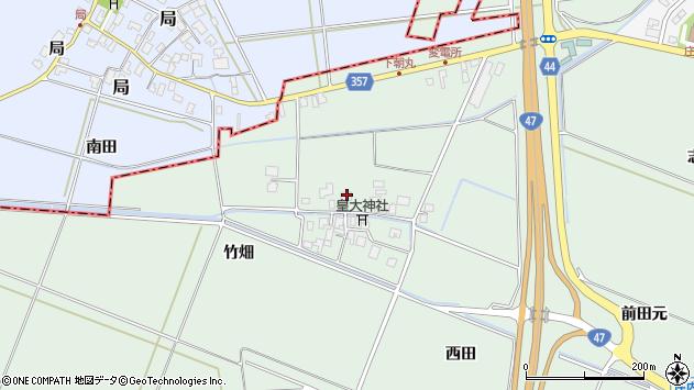 山形県東田川郡庄内町余目竹畑80周辺の地図