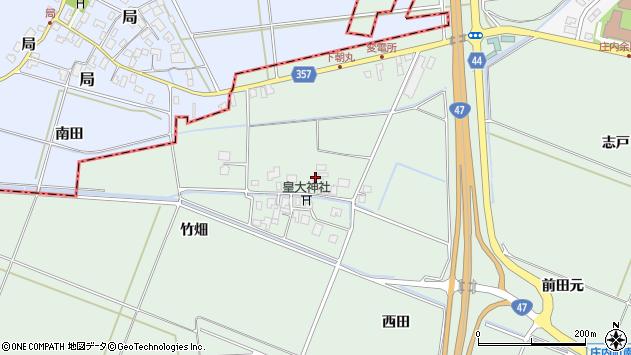 山形県東田川郡庄内町余目竹畑79周辺の地図