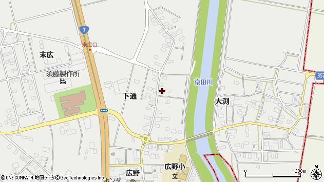 山形県酒田市広野下通70周辺の地図