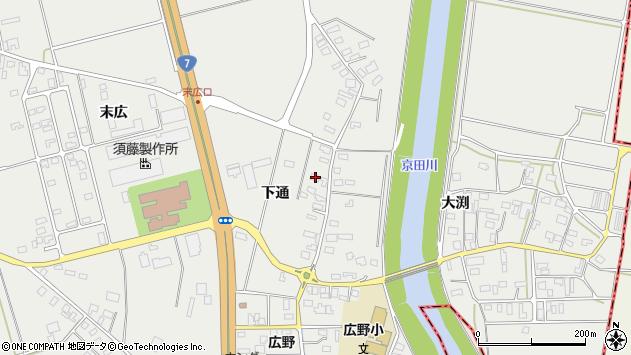 山形県酒田市広野下通116周辺の地図
