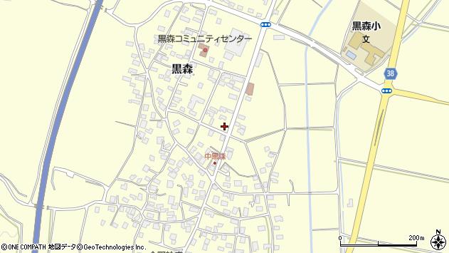 山形県酒田市黒森草刈谷地46周辺の地図