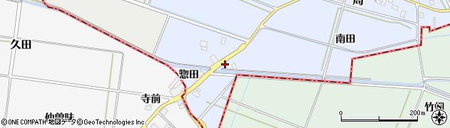 山形県酒田市局惣田10周辺の地図