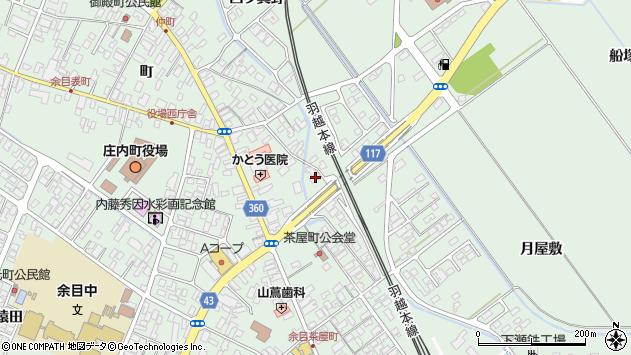 山形県東田川郡庄内町余目月屋敷272周辺の地図