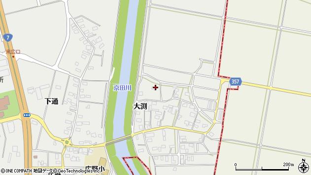 山形県酒田市広野大渕112周辺の地図