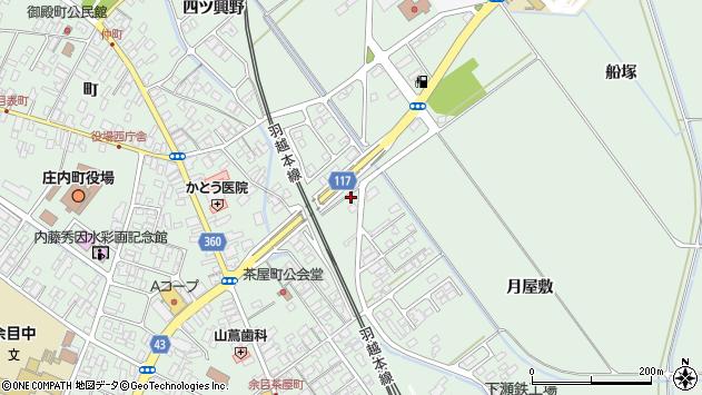 山形県東田川郡庄内町余目月屋敷168周辺の地図