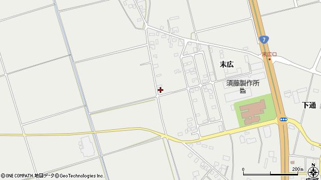 山形県酒田市広野末広14周辺の地図