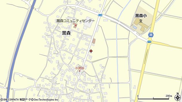 山形県酒田市黒森草刈谷地周辺の地図