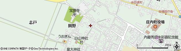 山形県東田川郡庄内町余目興野16周辺の地図
