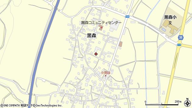 山形県酒田市黒森草刈谷地72周辺の地図