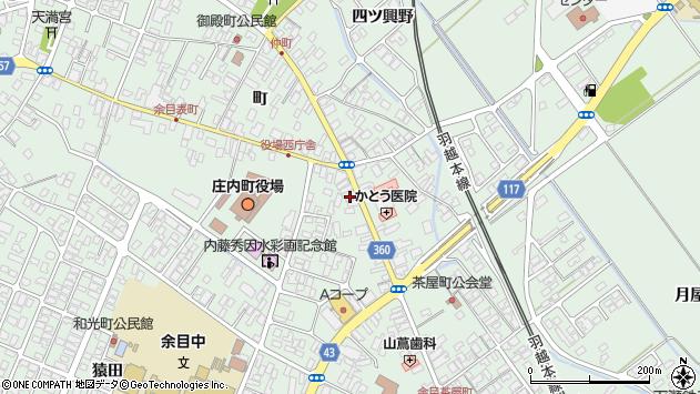 山形県東田川郡庄内町余目町周辺の地図