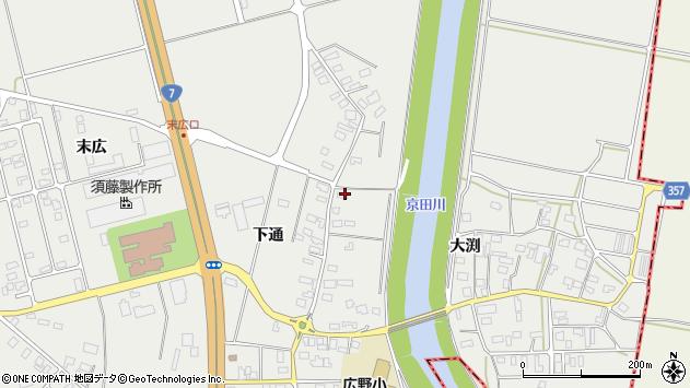 山形県酒田市広野下通63周辺の地図
