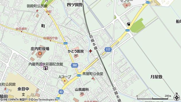 山形県東田川郡庄内町余目月屋敷269周辺の地図