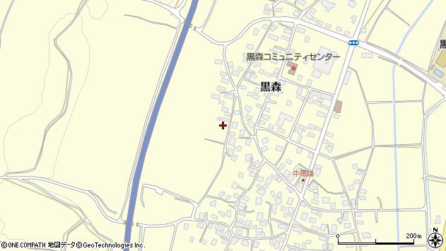 山形県酒田市黒森境山471周辺の地図