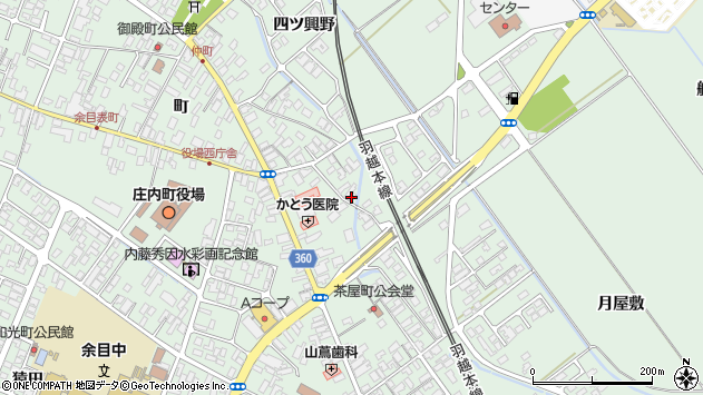 山形県東田川郡庄内町余目町36周辺の地図