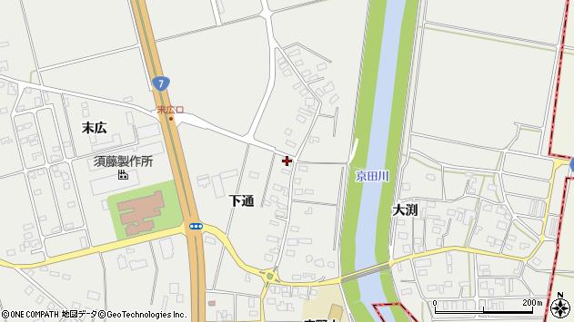 山形県酒田市広野下通121周辺の地図