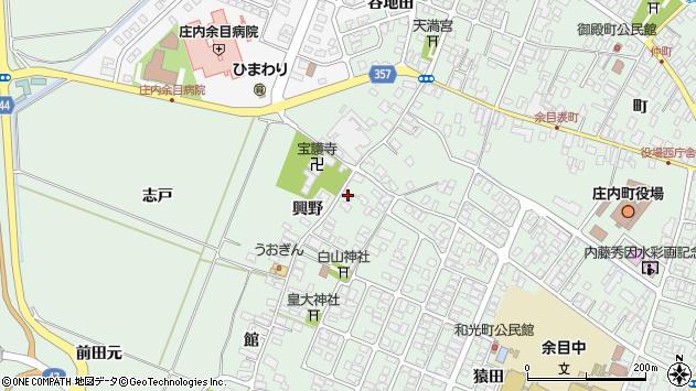 山形県東田川郡庄内町余目興野47周辺の地図