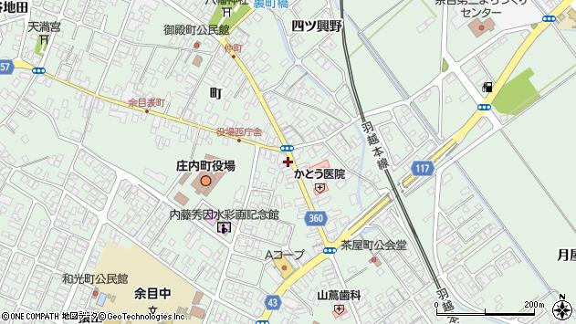 山形県東田川郡庄内町余目町22周辺の地図