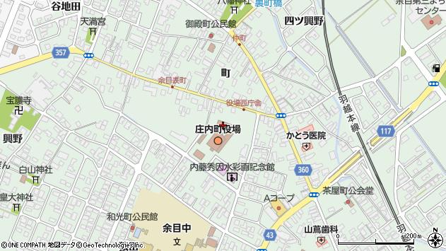山形県東田川郡庄内町余目町138周辺の地図