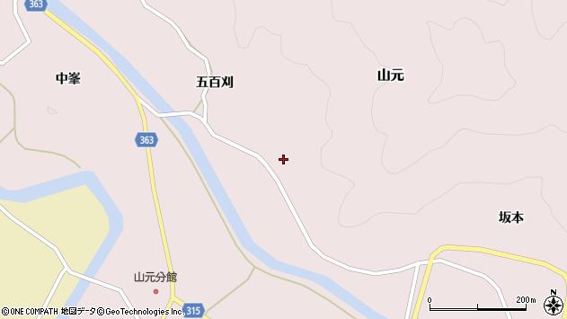 山形県酒田市山元五百刈32周辺の地図