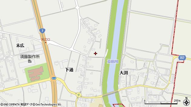 山形県酒田市広野下通59周辺の地図