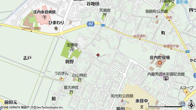 山形県東田川郡庄内町余目興野27周辺の地図