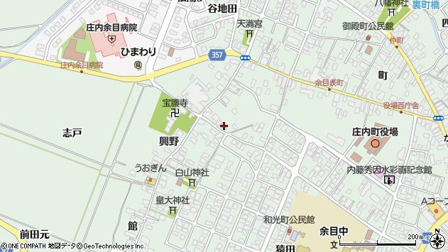 山形県東田川郡庄内町余目興野18周辺の地図