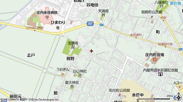 山形県東田川郡庄内町余目興野19周辺の地図
