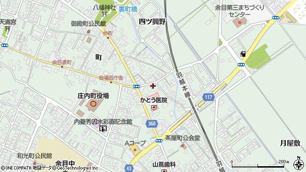 山形県東田川郡庄内町余目町57周辺の地図