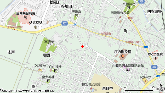 山形県東田川郡庄内町余目猿田100周辺の地図