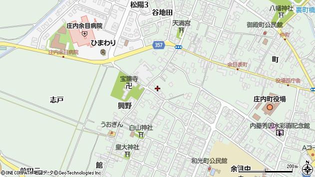 山形県東田川郡庄内町余目興野21周辺の地図